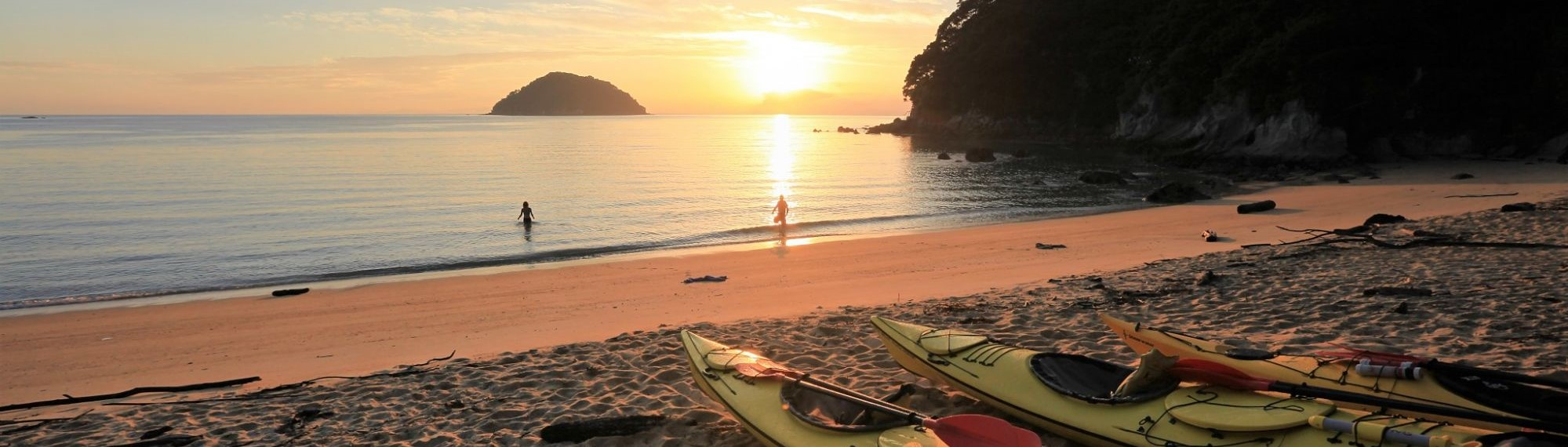 Sunrise over Abel Tasman National Park